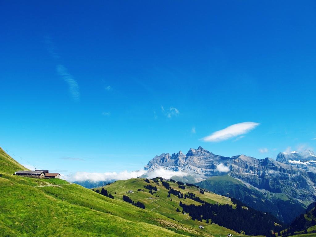 "This is an easy hike that takes you from the top of the Planachaux cable car to the Lapisa alpine refuge and then on down to Champéry.  The route offers spectacular views of the Dents Blanches mountains and of the infamous Chavanette ski slope, otherwise known as the ""Swiss Wall""."