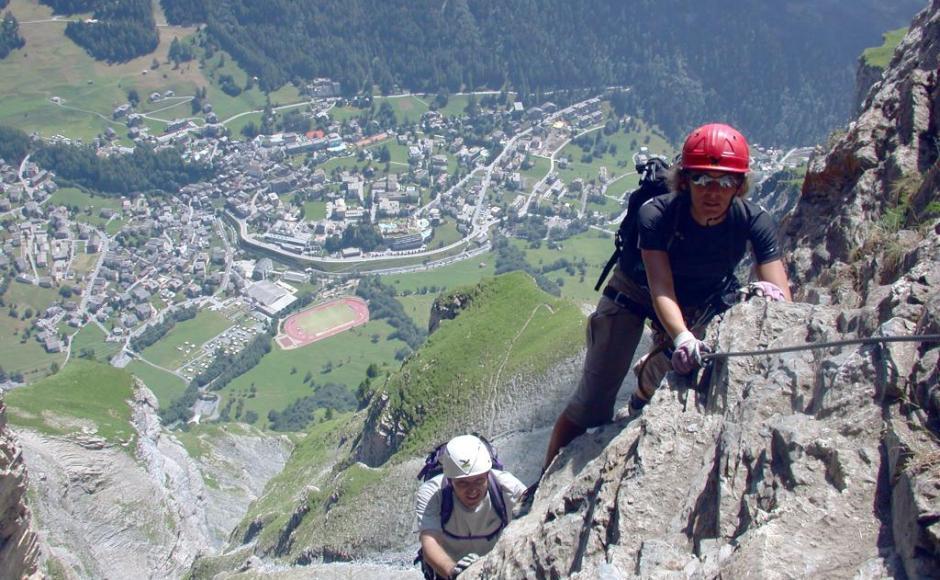 Klettersteig In English : Kleiner daubenhorn klettersteig klettersteige & via ferratas in