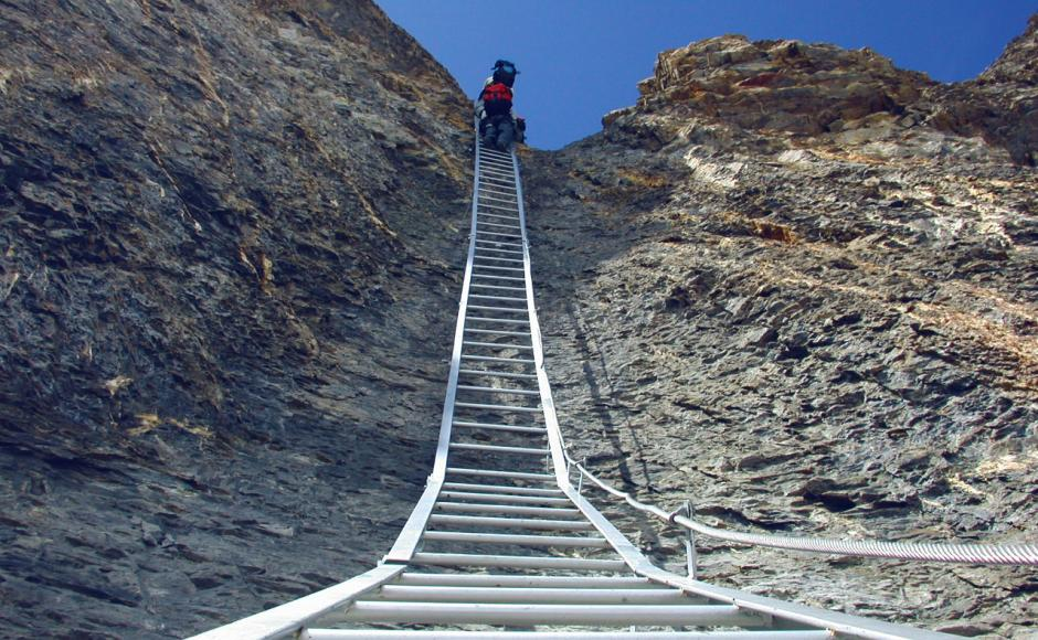 Klettersteig Nähe Zürich : Grosser daubenhorn klettersteig klettersteige & via ferratas in