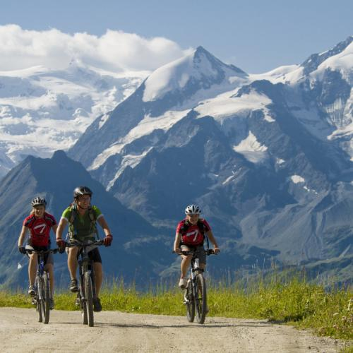 Mountain bike in Verbier